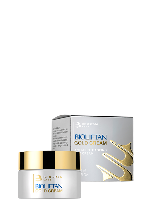 Золото-пептидный омолаживающий крем для лица Bioliftan gold cream SPF30